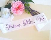 Bridal Shower Sash, Personalize Bride Sash, Bachelorette Sash