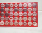 Vintage Large Coke Coca Cola Postcard Bottle Caps