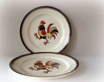 Red Rooster by Metlox Poppytrail Dinner Plates