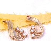 Vintage Diamond Earring Jackets/ 14K Yellow Gold