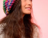 EXPRESS SHIPPING to US, Canada! Oversize hipster beanie, baggy fun unusual beanie, Slouchy chunky beanie hat, Multi-coloured bubble hat