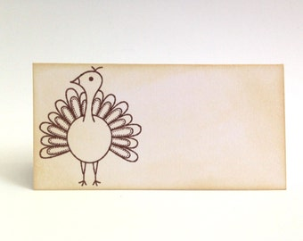 Thanksgiving Table Decor - Place Cards Thanksgiving - Rustic Fall Decor - Turkey Place Card - Place Setting - Thanksgiving Dinner Place Card