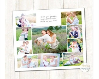 20x24 Storyboard Template for 10 photos + quote (SB235) INSTANT DOWNLOAD