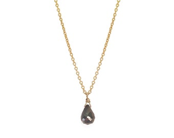 Simple Pyrite Teardrop Necklace