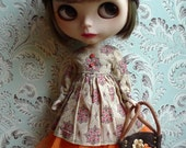 SALE % Beige and Brown Crochet Blythe Hat and Felt Bag Set