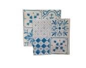 Blue or Black Tiles linen napkins (set of 4)