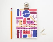 2016 Desk Calendar Monthly Planner Magnetic Calendar Office Supplies Teacher Christmas Gifts Wall Calendar Desk Accessories Hand Lettered