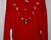 Vintage Ladies Red Sweater by Meister Extra Large Only 9 USD