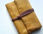 Rustic Autumn-Journal-Handmade-Thick Leather-Gift Idea-Travel Journal-Large