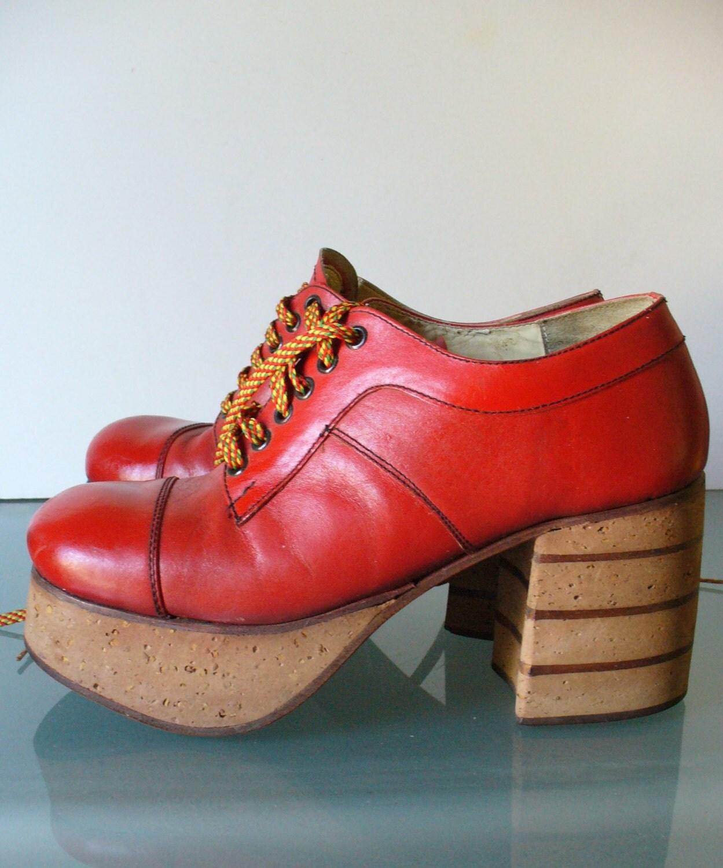 vintage platform shoes size 9 by theoldbagonline on etsy