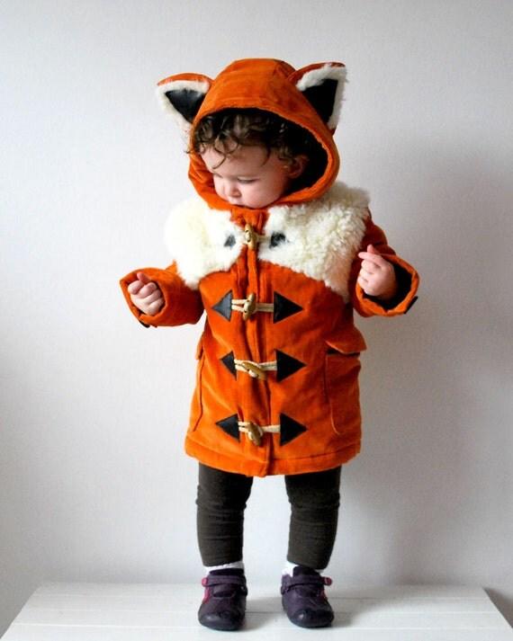 Kids Fox Coat Orange Childrens Animal Duffle FREE By OliveAndVince
