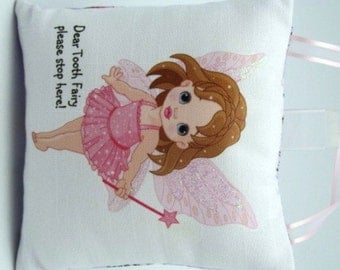 Tooth Fairy Pillow with glittered wings