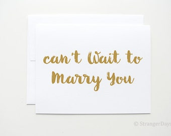 I cant wait to marry you - wedding day card, Greeting Card.
