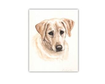"8""x10"" Watercolor custom pet portrait, watercolor original painting dog cat animal pet lover painting handmade wall art gift"
