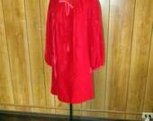 Fabulous RED VELVET HOLIDAY Mod Style Dress