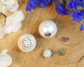 Hypoallergenic CZ Stud or CZ Ball Stud, Stud back Color Choice