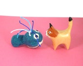 Chubby Baleen Whale Catnip Cat Toy - Needle Felted Wool
