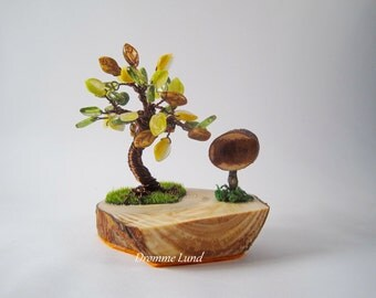 Hug A Tree (Decorative OOAK Autumn Tree Sculpture)