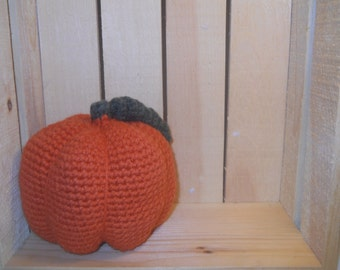Crocheted Pumpkin, pumpkin, halloween decoration, fall decoration, fall home decor, halloween home decor, stuffed pumpkin, rustic pumpkin