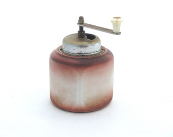 Vintage coffee mill,Retro grinder shaded, Ceramic grinder, Hand coffee mill, Unique grinder ,Cottage kitchen
