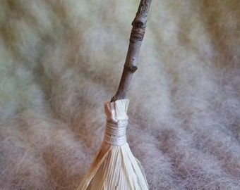 1 Handmade Witches Broom, Waldorf Inspired, Halloween Decoration