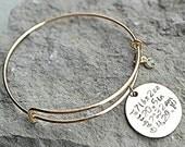 Birth Announcement Bracelet - New Mom bracelet - Push Present - Personalized Charm Bracelet - Mom Christmas Gift  - Baby Name Bracelet