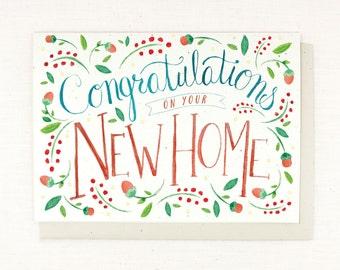 New Home Card - Congrats - Watercolor