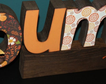 PUMPKIN PATCH letter set, Fall/Autumn Decoration