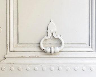 Paris Photograph - Cream Door Knocker, Architectural Fine Art Photograph, Urban Home Decor, Large Wall Art