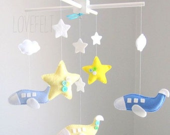Baby Mobile - Airplane Mobile - Nursery Mobile