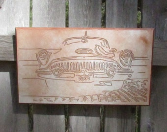 1953 Buick Roadmaster Grill Wall Hanging Art - Man Cave Picture Rusty Car Show Classic Car Collector Vintage Cruising