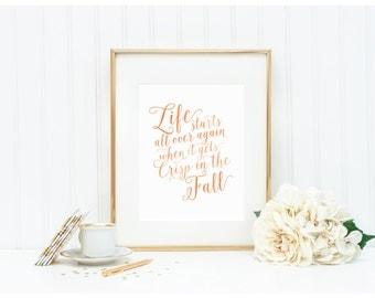 "Fall Art Print - ""Crisp in the Fall"" - Mirabelle Creations"