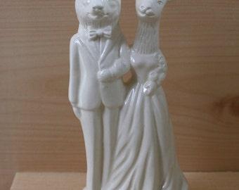 Wolf Weds Deer Wedding Cake Topper