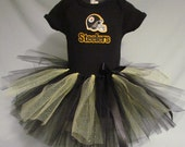 FREE SHIPPING NFL Pittsburgh Steelers Tutu Cheer Dress Outfit for Baby Girls