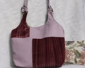 Lavender Leather and Velvet Medium Purse Upcycled Bag Again with  free small pouch