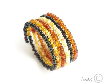 Baltic Amber Multicolor Bracelet on Memory Wire
