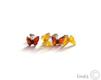 Baltic Amber Butterfly Earrings