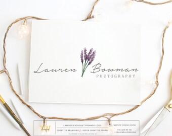 Premade Logo - Watercolor Lavendar- Photography Logo - Boutique Logo - Small Business Logo