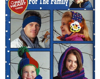 Headwear For The Family To Crochet Pattern Book   Leisure Arts 2907