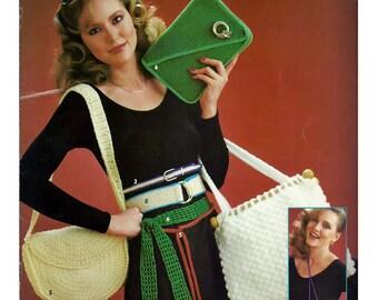 Belts & Bags To Crochet Pattern Book   Leisure Arts 168