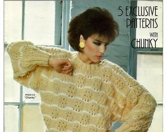 Fashion Knit Pattern Booklet Phentex No 92514E