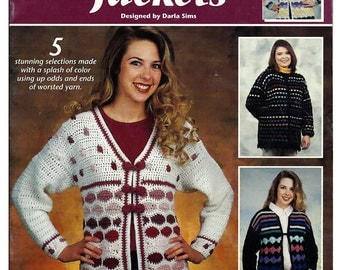Snappy Scrappy Jackets Crochet Pattern Booklet Annie's Attic 872614