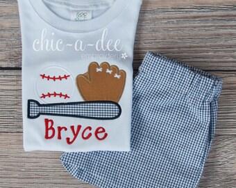Personalized Baseball Shirt + Coordinating Bottoms