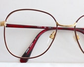 Vintage Deep Red Wire Eyeglasses Frames