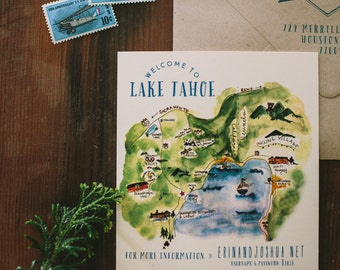 Custom Watercolor Wedding Maps