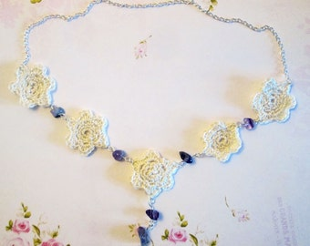 Crocheted Flower Necklace Kit