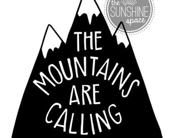 """Uni-sex tri-blend """"the mountains are calling"""" light-weight hoody"""