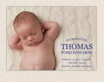 Boy Birth Announcement. Introducing