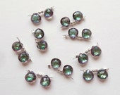 Mystic Topaz 7.5 mm Faceted Gem Pear Heart Drops One Pair K652