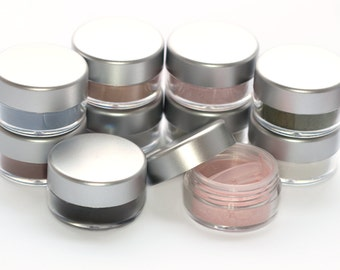 10 Piece Vegan Eyeshadow Set  - choose 10 Net wt 2g jars Mineral Makeup Vegan Eyeshadow Powder